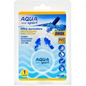 Earplug Tappi Auricolari Scudo Aquasport Junior 1 Coppia 2 Pezzi