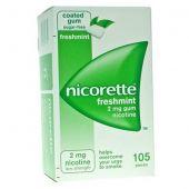 Nicorette 105 Gomme Masticabili Medicate Freshmint 2mg