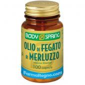 Body Spring Olio di Fegato di Merluzzo 100 Capsule