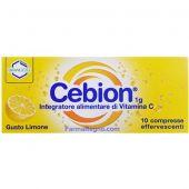 Cebion Integratore Alimentare Vitamina C Limone 10 Compresse