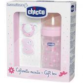 Chicco Gift Set Girl Regalo Bimba Rosa Caucciù