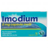 Imodium 2mg 12 Capsule Molli per diarrea acuta