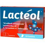 Lacteol 10 Miliardi Lactobacillus Polvere 10 Bustine