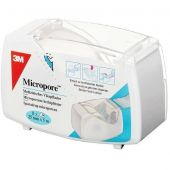 Micropore Cerotto Carta Rotolo 3M con Dispenser 2,5Cm X 5M