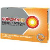 NurofenKid Febbre e Dolore Ibuprofene 100 mg 24 Capsule