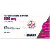Paracetamolo Sandoz 20 Compresse 500mg