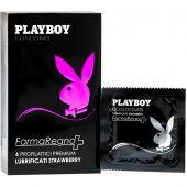 Playboy Strawberry Lubrificati Preservativi Aroma Fragola 6 Pezzi