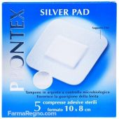 Prontex Silver Pad 10X8Cm 5 Cerotti