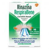 Rinazina RespiraBene 10 Cerotti Nasali Aroma Balsamico