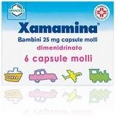 Xamamina Bambini 25mg 6 Capsule Molli