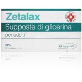 Zetalax 2.25g 18 Supposte di Glicerina per Adulti