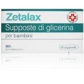 Zetalax 1375mg 18 Supposte di Glicerina per Bambini